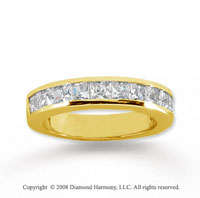 14k Yellow Gold 11 Stone 1 1/2 Carat Diamond Anniversary Band
