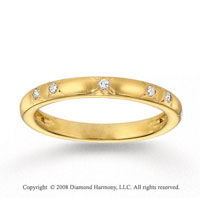 14k Yellow Gold 1/6 Carat Diamond Stackable Ring