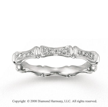 14k White Gold 1/3 Carat Diamond Segmented Stackable Ring