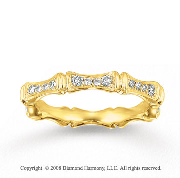 14k Yellow Gold 1/3 Carat Diamond Segmented Stackable Ring