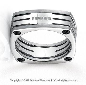 Titanium 7.5mm Comfort-Fit Four-Sided Wedding Band