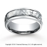 Titanium 7mm Comfort-Fit Hammered-Finished Wedding Band