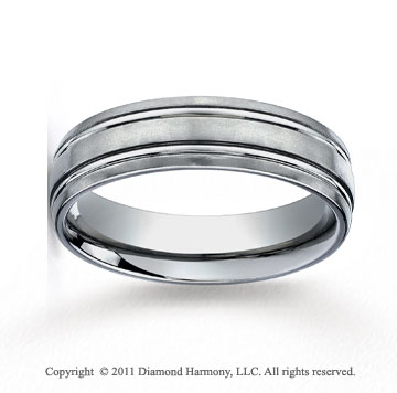 Titanium 6mm Comfort-Fit Satin-Finished Wedding Band
