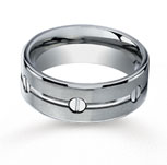 Titanium 8mm Comfort-Fit Satin-Finished Screw-Wedding Band