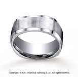 Titanium 9mm Comfort-Fit Satin-Finished Four-Sided Wedding Band