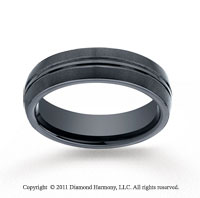 Ceramic 6mm Comfort-Fit Satin-Finished Wedding Band
