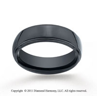 Ceramic 7mm Comfort-Fit High Polished Wedding Band