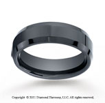 Ceramic 7mm Comfort-Fit High Polished Beveled Edge Wedding Band