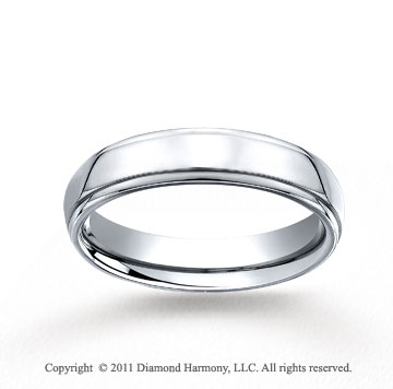 Cobaltchrome� 5mm Comfort-Fit High Polished Wedding Band
