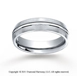 Cobaltchrome� 6mm Comfort-Fit Satin-Finished Wedding Band