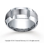 Cobaltchrome� 5mm Comfort-Fit Satin-Finished High Polished Grooves & Beveled Edge Wedding Band