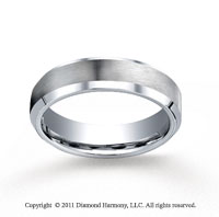 Cobaltchrome� 6mm Comfort-Fit Satin-Finished Beveled Edge Wedding Band