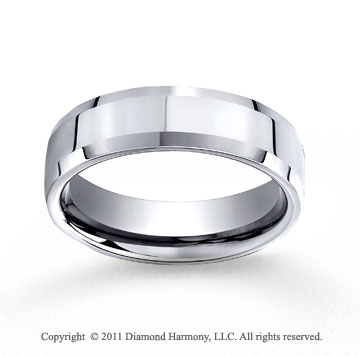 Cobaltchrome� 7mm Comfort-Fit High Polished Beveled Edge Wedding Band