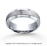 Cobaltchrome� 8mm Comfort-Fit Satin-Finished Double Edge Wedding Band