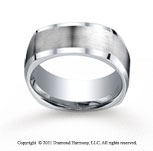 Cobaltchrome� 9mm Comfort-Fit Satin-Finished Four-Sided Wedding Band