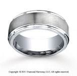 Cobaltchrome� 9mm Comfort-Fit Satin-Finished Stair-Step Edge Wedding Band