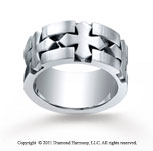 Cobaltchrome� 10mm Comfort-Fit Satin-Finished Celtic Cross Wedding Band