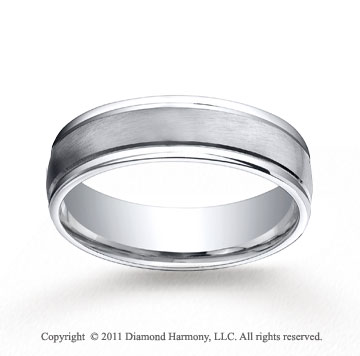 Cobaltchrome� 6mm Comfort-Fit Satin-Finished Round Edge Wedding Band