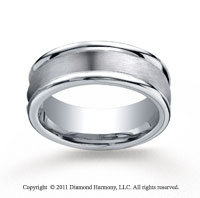 Cobaltchrome� 8mm Comfort-Fit Satin-Finished Round Edge Wedding Band