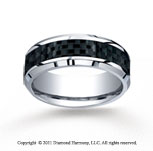 Cobaltchrome� 8mm Comfort-Fit Carbon Fiber Inlay Wedding Band