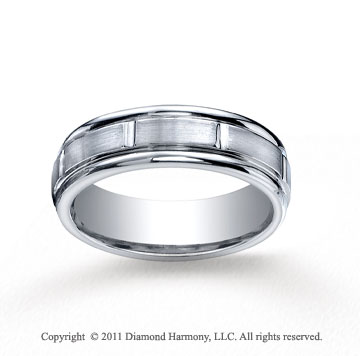 Cobaltchrome� 7mm Comfort-Fit Satin-Finished Round Edge Wedding Band