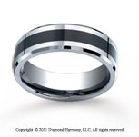 Cobaltchrome�7mm Comfort-Fit Ceramic Inlay Wedding Band