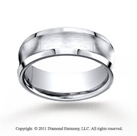 Cobaltchrome� 7.5mm Comfort-Fit Satin-Finished Concave Wedding Band