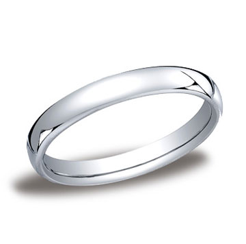 14k White Gold 3.5mm European Comfort-Fit Ring