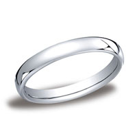 18k White Gold 3.5mm European Comfort-Fit Ring