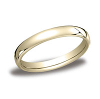 18k Yellow Gold 3.5mm European Comfort-Fit Ring