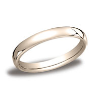 18k Rose Gold 3.5mm European Comfort-Fit Ring