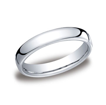 14k White Gold 4.5mm European Comfort-Fit Ring