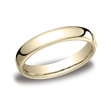 14k Yellow Gold 4.5mm European Comfort-Fit Ring
