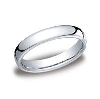 18k White Gold 4.5mm European Comfort-Fit Ring