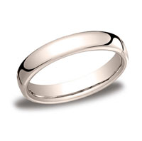 18k Rose Gold 4.5mm European Comfort-Fit Ring
