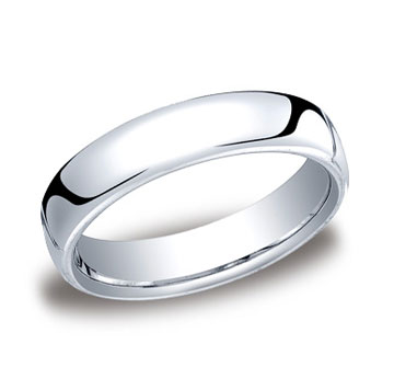 14k White Gold 5.5mm European Comfort-Fit Ring