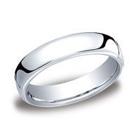 18k White Gold 5.5mm European Comfort-Fit Ring