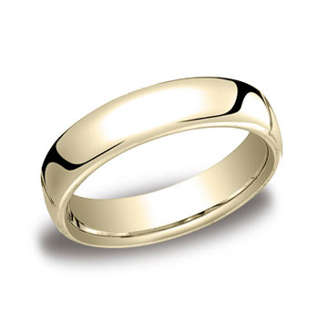 18k Yellow Gold 5.5mm European Comfort-Fit Ring