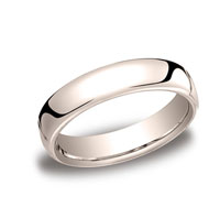 18k Rose Gold 5.5mm European Comfort-Fit Ring