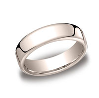 18k Rose Gold 6.5mm European Comfort-Fit Ring