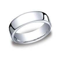 14k White Gold 7.5mm European Comfort-Fit Ring