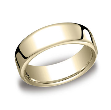 14k Yellow Gold 7.5mm European Comfort-Fit Ring