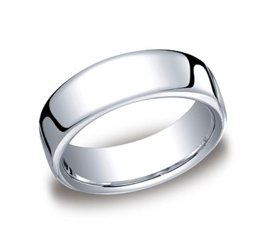 18k White Gold 7.5mm European Comfort-Fit Ring