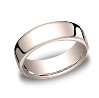 18k Rose Gold 7.5mm European Comfort-Fit Ring