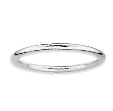 Sterling Silver 1.5mm Simple Polished Stackable Ring