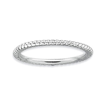 Sterling Silver 1.5mm Carved Stackable Ring