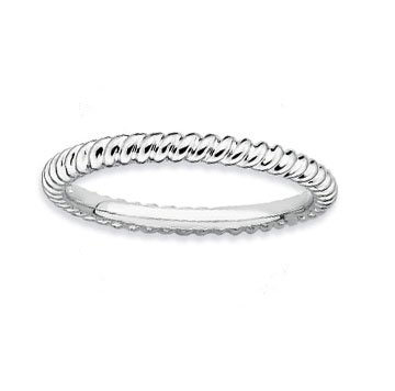 Sterling Silver 2.25mm Twisted Stackable Ring