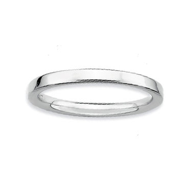 Sterling Silver 2.25mm Simple Polished Stackable Ring
