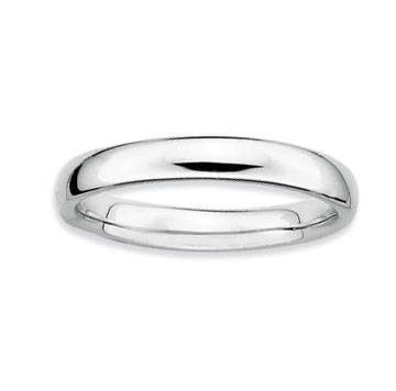 Sterling Silver 3.25mm Simple Polished Stackable Ring