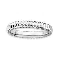 Sterling Silver 3.25mm Twisted Stackable Ring